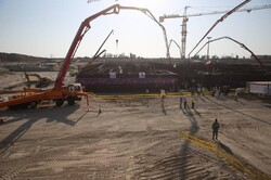 Concrete placement at 2nd unit of Bushehr nuclear plant