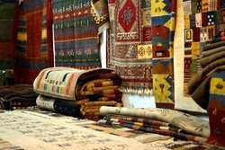 Beautiful carpets at Shiraz bazaar