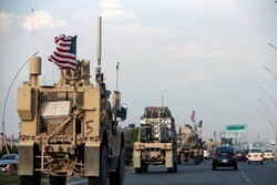 Trucks carry US military equipment from Syria to Iraq