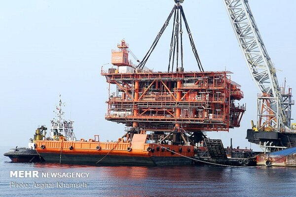 3rd gas platform of SPGF's phases 22 to 24 installed