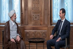 Iranian parliamentary delegation meets with Syrian president in Damascus