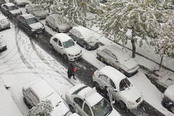 First autumn snow in Tehran