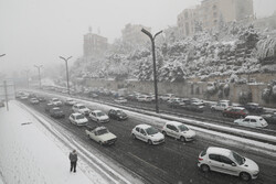 Surprise snowfall in Tehran