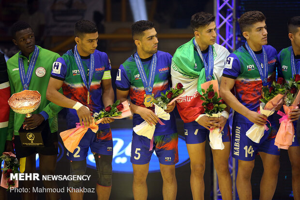 Cup ceremony and final of Junior World Kabaddi C'ships