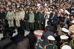Funeral procession of Law enforcement officer in Kermanshah