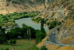 A view of Aras Geopark in northwest Iran