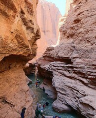 A view of Rageh canyon in Iran's Rafsanjan county, Kerman province.