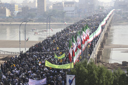 People of Ahvaz rally against rioters