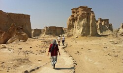 People visit Stars Valley in Qeshm Island