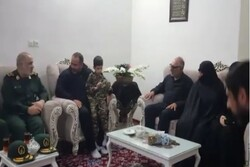 IRGC chief visits family of 'security martyr'