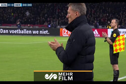 VIDEO: Ajax and Heracles players voice protest against racist fans