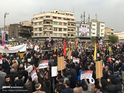 People stage rally in Tehran to condemn violent acts