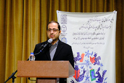 IIDCYA director Fazel Nazari speaks during a conference on children's literature at the Faculty of Letters and Human Sciences at Shahid Beheshti University in Tehran on November 25, 2019. (IIDCYA)