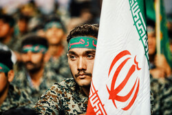 Gathering of Basij forces in Hamedan