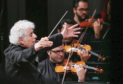 Tehran Symphony Orchestra performs at Vahdat Hall