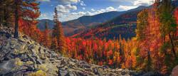 Autumn on the Kola Peninsula in the far northwest of Russia