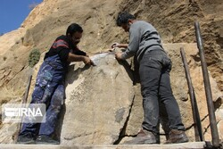 Vandalized prehistorical bas-relief restored in western Iran