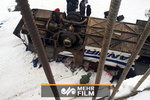 VIDEO: 19 killed in Russia as bus plunges onto frozen river