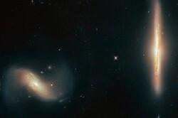 شکار تصویر دو کهکشان زیبا توسط هابل