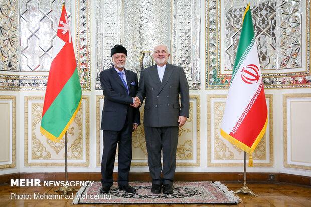 Zarif ile umman Dışişleri Bakanı görüşmesinden fotoğraflar