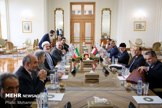 Zarif, Omani counterpart hold meeting in Tehran
