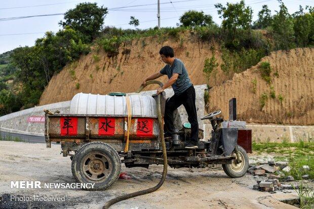 آبرسانی به روستای چینی با حفر چاه عمیق