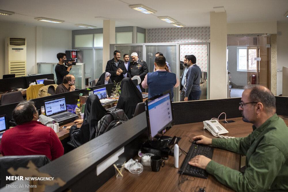 بازدید دریادار رستگاری از خبرگزاری مهر
