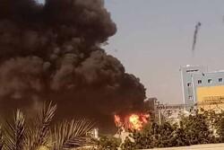 آتش سوزی مهیب در خارطوم/ دهها نفر کشته و زخمی شدند
