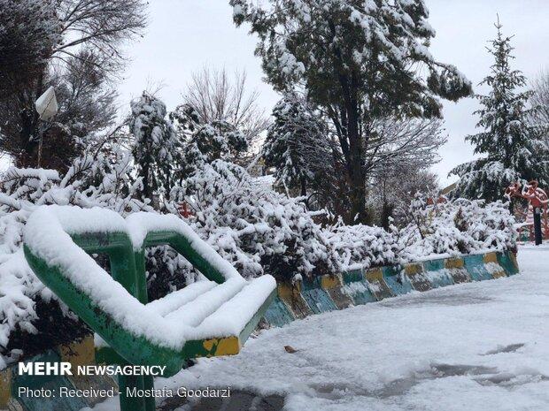 """هطول الثلج في مدينة """"دلفان"""""""