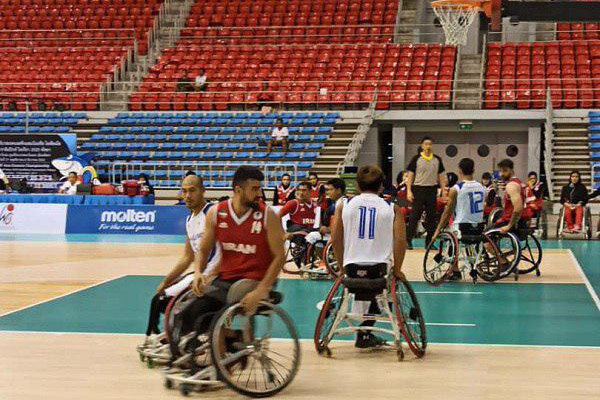 تیم ملی بسکتبال با ویلچر ایران برابر میزبان به برتری دست یافت