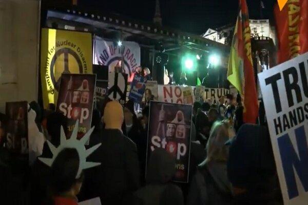 مظاهرات في لندن تندد بحضور ترمب في اجتماع للناتو