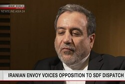 Iran opposes Japan's SDF deployment: Araghchi