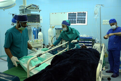 اجراء عملية جراحية في العمود الفقري للمصارع الايراني