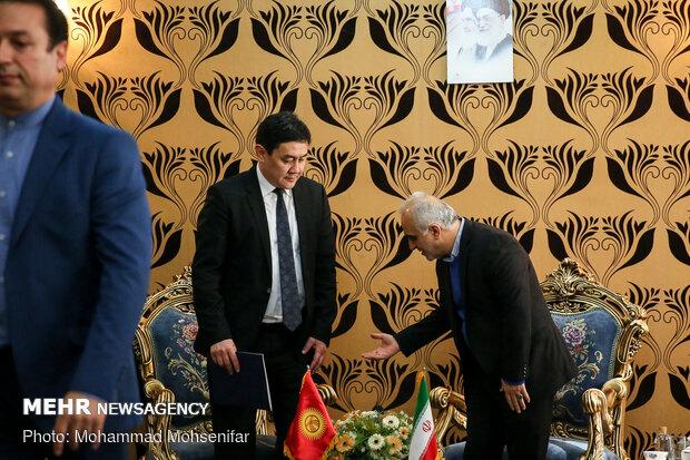 دیدار وزرای اقتصاد ایران و قرقیزستان
