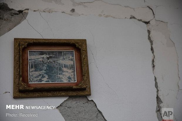 تخریب خانه های آلبانی پس از زلزله