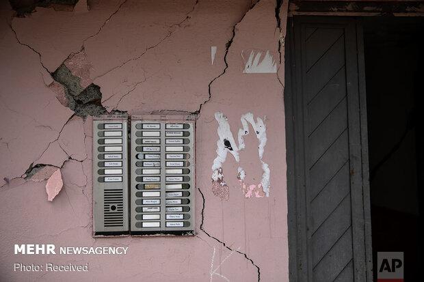خسارتهای زلزله در حد ترک خوردگی دیوارهای قدیمی بوده است