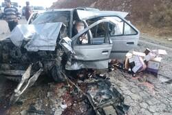 سوانح رانندگی جاده ای در مرکزی ۲ تن را به کام مرگ کشاند