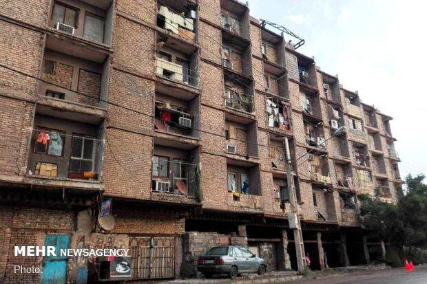 عملیات تخریب ساختمان ۶ طبقه خرمشهر آغاز شد