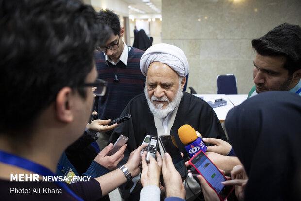 حجت الاسلام غلامرضا مصباحیمقدم در جمع خبرنگاران