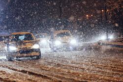 بارش برف در برخی محورهای استان تهران