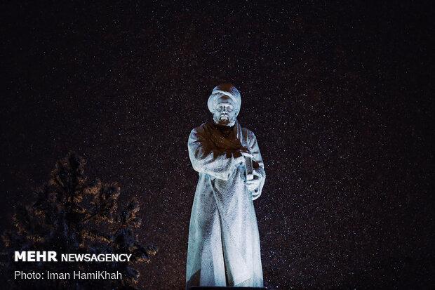 بارش برف شبانه در همدان