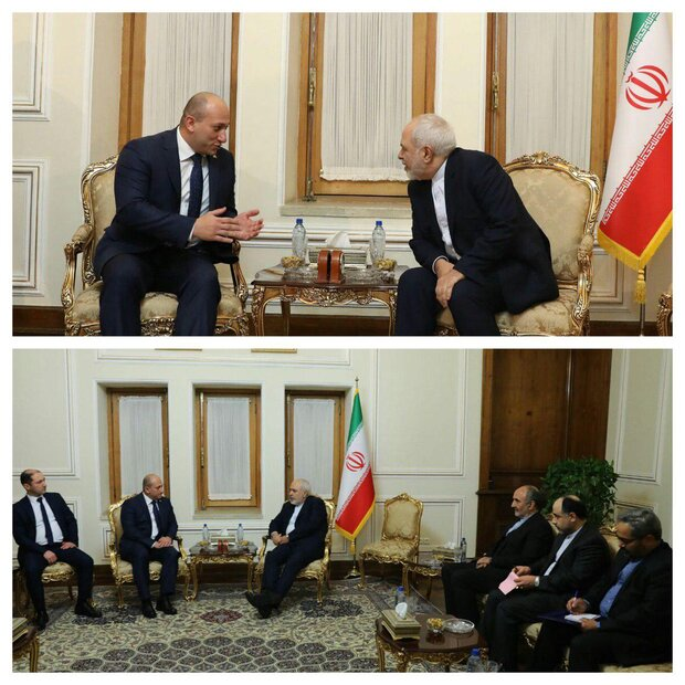 Zarif, Georgia deputy FM discuss ways to expand bilateral cooperation