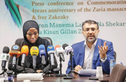Press conference on the fourth anniversary of Zaria massacre