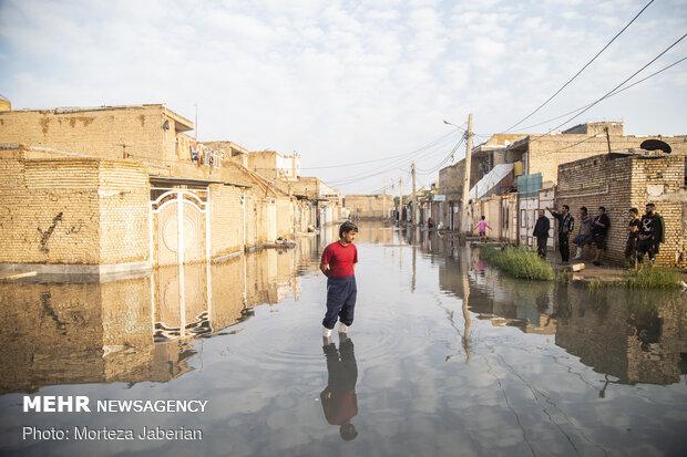 Huzistan eyaletinde şiddetli yağış etkili oldu