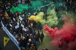 Demonstrators gathered as part of a national strike protesting changes to the French pension system last week in Paris. (Credit...Kiran Ridley/Getty Images)