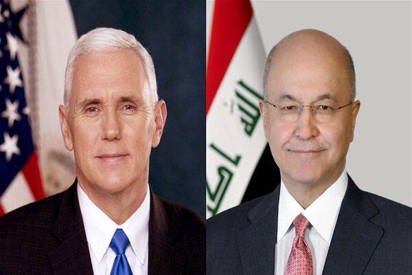 گفتگوی تلفنی معاون ترامپ و رئیس جمهور عراق