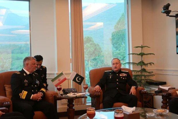 ایرانی بحریہ کے سربراہ کی پاکستانی بحریہ کے سربراہ سے ملاقات