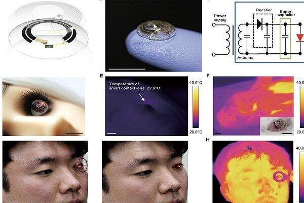 لنز رباتیک که نشانگرهای زیستی فرد را رصد می کند