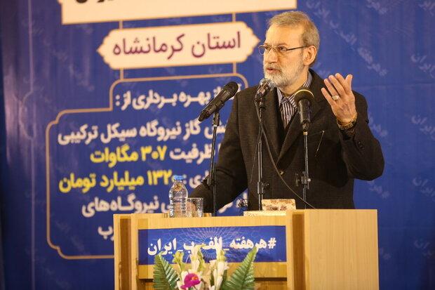 Development projects on track despite cruel sanctions: Larijani