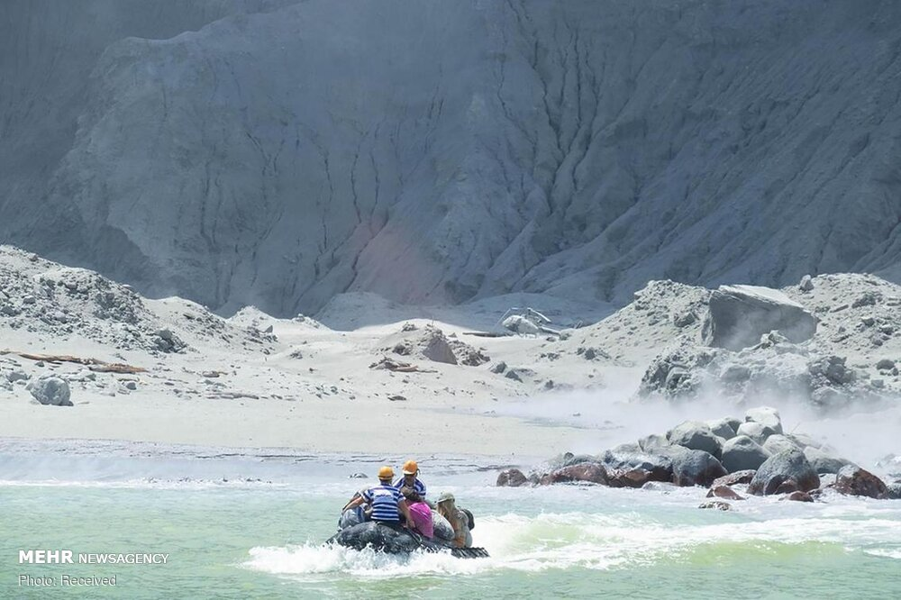 فوران آتشفشان در نیوزیلند